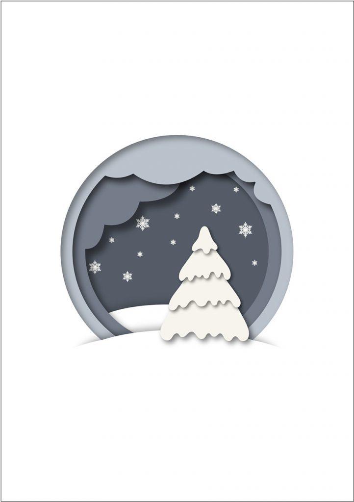 Hochwertige Weihnachtskarten für Unternehmen - Weihnachtsgrüße von Firmen an Geschäftspartner